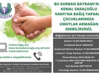 Kemal Saraçoğlu Vakfı'ndan Bağış Çağrısı