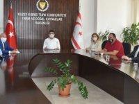 Tarım ve Doğal Kaynaklar Bakanı Dursun Oğuz, Kıbrıs Türk Kooperatif Merkez Bankası (Koopbank) Heyetine Kabul Etti