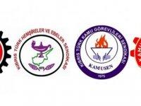 Kamuda Örgütlü 4 Sendika, Pazartesinden itibaren ek çalışmaya katılmama eylemi başlatıyor