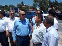 Tatar, Girne –Alsancak Yolu 1. Etap projesinde incelemede bulundu ve proje hakkında bilgi aldı
