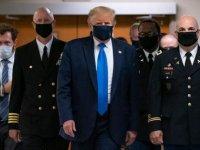 Trump kameralar karşısına ilk defa maskeyle çıktı