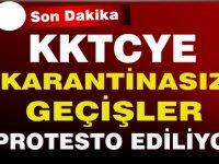 Araçlı eylemle karantina protestosu