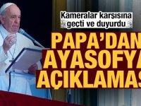 Papa'dan Ayasofya açıklaması