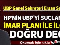 Saner: UBP'yi tehdit etmek kimsenin haddi değil!