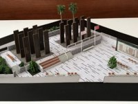 Gazi Baf Sehitler Anıtı inşaatında temel atma aşamasına gelindi
