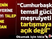 Türkiye'nin Akıncı yerine muhattap olarak Özersay'ı  talep etmesine Akıncı'dan tepki