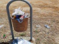 """Güney Kıbrıs: Çöpten sebze meyve topluyorlar…""""Utanmasınlar diye, karton kutulara sebze meyve koyup çöpün yanına bıraktık"""""""