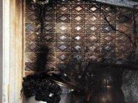 Gazocağını açık unuttu mutfak yandı