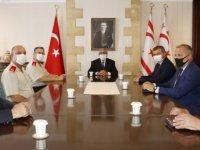 Cumhurbaşkanı Akıncı Güvenlik Kuvvetleri Komutanı Tuğgeneral Er'i Kabul Etti