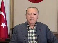 """Cumhurbaşkanı Erdoğan canlı yayında promptera takıldı: """"Geri al, geri al""""; """"Efendim canlı yayındayız"""""""