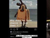 Siyahi modeli zincire vuran giyim firması büyük tepki çekti