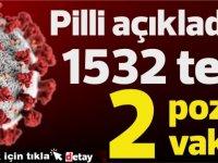 Pilli:1532 test yapıldı,  2 pozitif vaka, 1 kişi taburcu