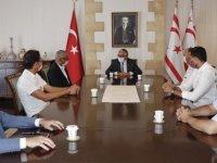 Cumhurbaşkanı Akıncı, Basketbol Federasyonu Yeni Yönetimini Kabul Etti
