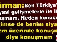 """Erhürman: """"Kıbrıs Türk Halkı kendi iradesi konusunda çok hassas"""""""