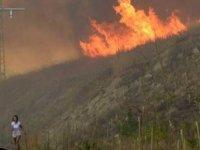 Bulgaristan-Türkiye Sınırında Yangın…