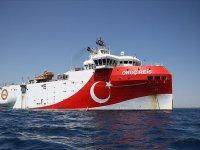 Oruç Reis Akdeniz'de çalışma yapacağı alana ulaştı