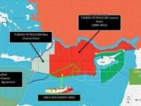 TC Dışişleri Bakanlığı, Oruç Reis'in faaliyet sahasını gösteren haritayı paylaştı