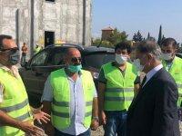 Pilli, Güzelyurt Sağlık Merkezi ile Güzelyurt Hastanesi inşaatını ziyaret etti