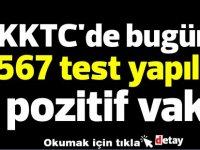 KKTC'de bugün 1567 test yapıldı, 4 pozitif vaka