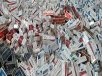 1.6 Milyon Euro'luk kaçak sigara
