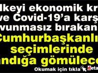 Sonüstün'den Hükümete Ekonomik ve Covid-19 eleştirisi