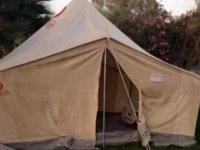 Halk hastane beklerken 'çadır' buldu
