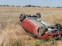 Gazimağusa-Lefkoşa anayolunda korkutan kaza