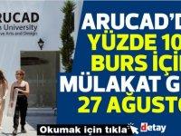 ARUCAD'da %100 Burs için mülakat 27 Ağustos'ta