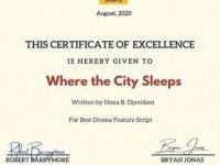 DAÜ Sinema Ve Televizyon Bölümü Öğrencisi Nima Djavıdanı'ye En İyi Senaryo Ödülü