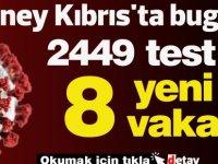 Güney Kıbrıs'ta bugün 8 yeni vaka