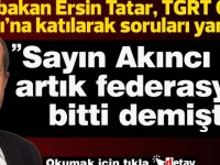 """Tatar: """" Sayın Akıncı da artık federasyon bitti demişti"""""""