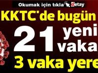 KKTC'de bugün 21 vaka! 3'ü yerel