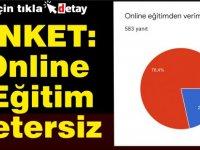 ANKET:Online Eğitim Yetersiz