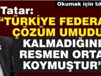 """Başbakan Ersin Tatar, """"Kıbrıs'ta yeni bir gelecek istiyoruz. Federal çözümde umut kalmamıştır''"""