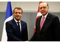Erdoğan, Macron'la Doğu Akdeniz'i görüştü
