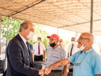 Ulusal Birlik Partisi Genel Başkanı, Cumhurbaşkanı Adayı Ersin Tatar, Girne'de sivil toplum kuruluşlarını ziyaret etti.