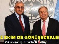 2 Ekim'de Kıbrıs'ı görüşecekler