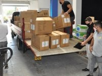 AB'nin Covid-19'a yönelik hibe ettiği malzemeler belediyelere dağıtılmaya başlandı
