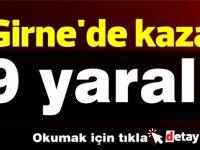 Girne'de kaza! 9 yaralı