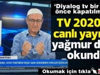 TV 2020'de canlı yayında yağmur duası okundu