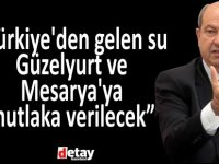 """Tatar:"""" Türkiye'den gelen su Güzelyurt ve Mesarya'ya mutlaka verilecek"""""""