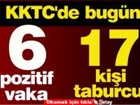 KKTC'de bugün: 6 pozitif vaka, 17 kişinin taburcu
