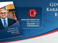 """Akıncı'nın seçim broşürü dijital olarak """"Güven ve Kararlılık"""" adıyla yayınlandı"""