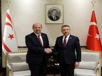 """Tatar ile görüşen Oktay: """"Bugün 117 milyon TL'yi KKTC'ye aktarıyoruz"""""""