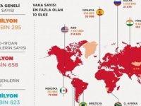 Dünya genelinde Covid-19 vaka sayısı 35 milyon 400 bini aştı