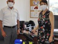 Güzelyurt Belediyesi Okullara İç Mekan ULV Cihazı Yardımında Bulundu