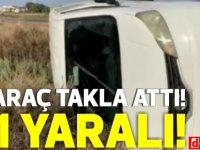 Gazimağusa-Tuzla yolunda araç takla attı