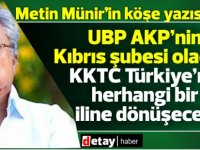 İddia: Münir:Erdoğan 2023'te KKTC'yi ilhak etmek istiyor