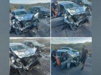 Yine dağ yolu yine kaza: 2 ağır yaralı!
