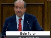 5. Cumhurbaşkanı Tatar Meclis'te and içti, bazı vekiller toplantıya katılmadı